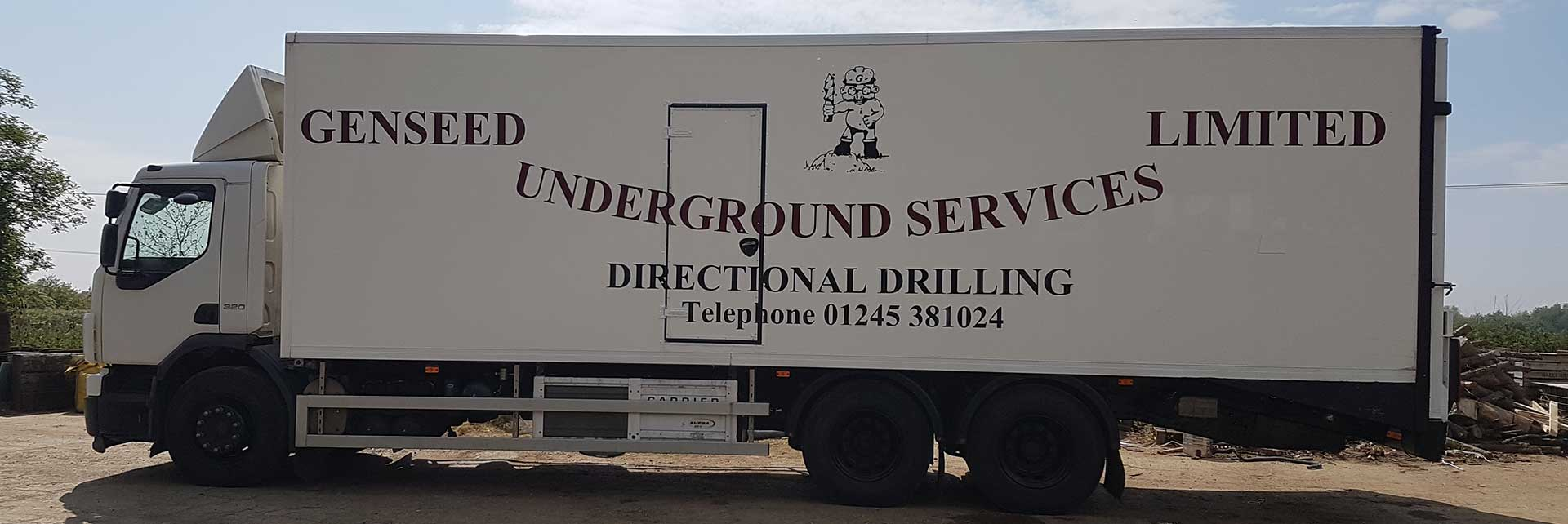 Genseed Underground Services lorry